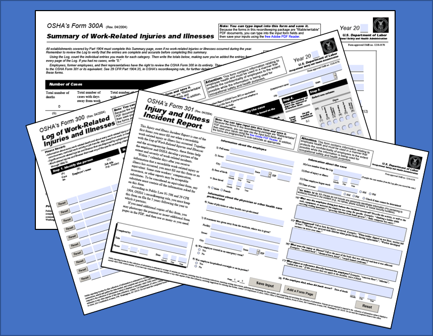 OSHA Recordkeeping Forms